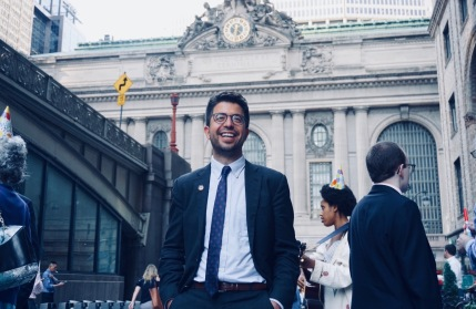 Adrian Untermyer, Founder and Chair of the Penn Central Day Committee, in front of the magnificent Beaux Arts Grand Central Terminal. (Photo by Shanique D. Bundy)