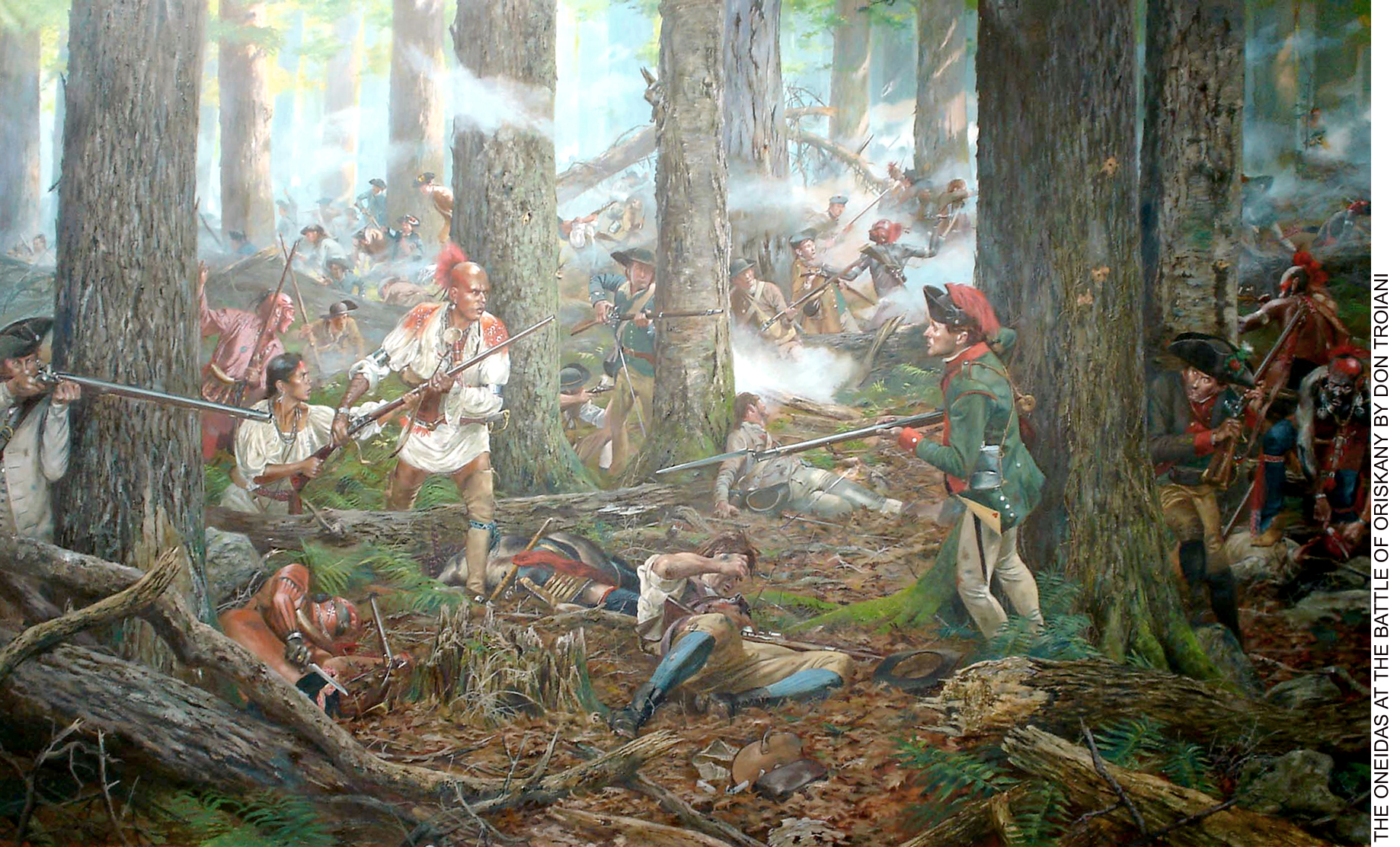 """Oneidas at the Battle of Oriskany"" painting by artist Don Troiani"